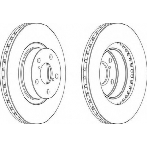 FERODO DDF679 Тормозной диск