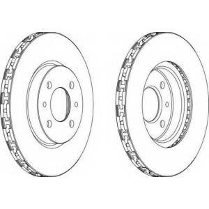 FERODO DDF762 Тормозной диск