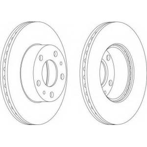 FERODO DDF767 Тормозной диск