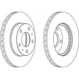 FERODO DDF768 Тормозной диск