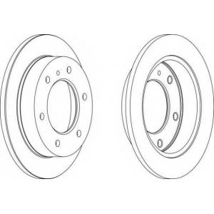 FERODO DDF785 Тормозной диск Акура