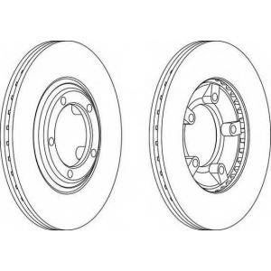 FERODO DDF826 Тормозной диск Хюндай Н100