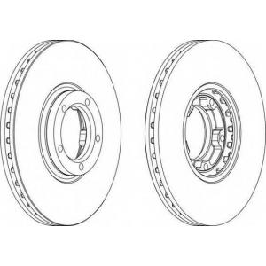 FERODO DDF849 Тормозной диск