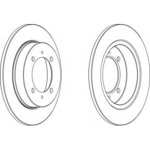 FERODO DDF886 Тормозной диск