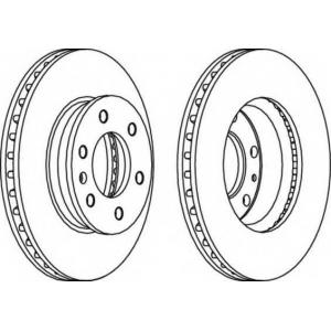 FERODO FCR310A Тормозной диск