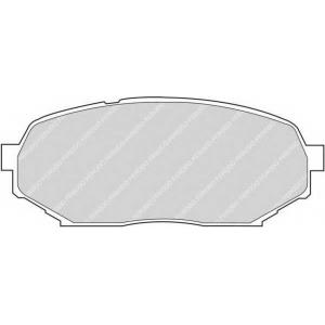 FERODO FDB1030 Комплект тормозных колодок, дисковый тормоз Исузу Импульс