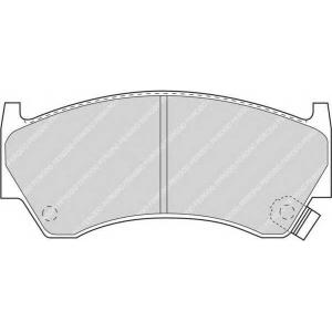 FERODO FDB1091 Колодки тормозные дисковые, к-кт.