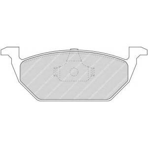 Комплект тормозных колодок, дисковый тормоз fdb1094 ferodo - SEAT IBIZA V (6J5) Наклонная задняя часть 1.2