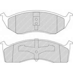 FERODO FDB1098 Комплект тормозных колодок, дисковый тормоз Крайслер Конкорд