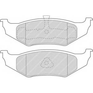 FERODO FDB1099 Комплект тормозных колодок, дисковый тормоз Крайслер Сайрус