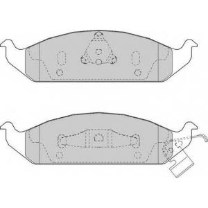 FERODO FDB1254 Комплект тормозных колодок, дисковый тормоз Крайслер Сайрус