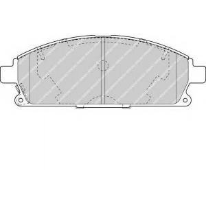 FERODO FDB1263 Комплект тормозных колодок, дисковый тормоз Инфинити Кью-Икс 4