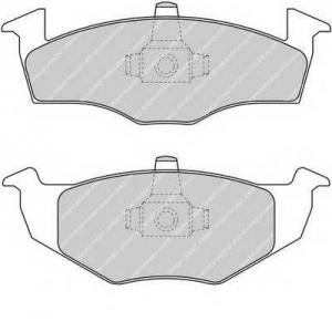 Комплект тормозных колодок, дисковый тормоз fdb1288 ferodo - VW GOLF III (1H1) Наклонная задняя часть 1.9 D