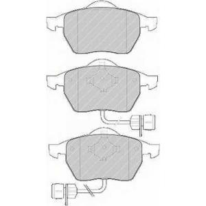 fdb1297 ferodo Комплект тормозных колодок, дисковый тормоз