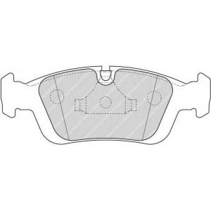 Комплект тормозных колодок, дисковый тормоз fdb1300 ferodo - BMW 3 (E36) седан 323 i 2.5
