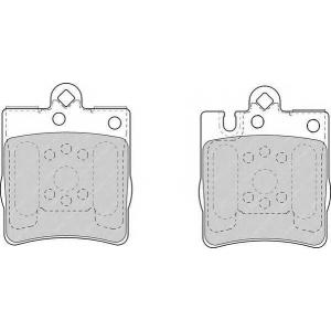 fdb1322 ferodo Комплект тормозных колодок, дисковый тормоз MERCEDES-BENZ E-CLASS купе E 36 AMG (124.052)