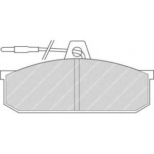 FERODO FDB140 Комплект тормозных колодок, дисковый тормоз Лансия
