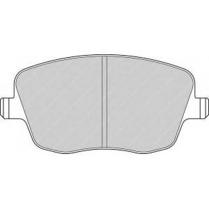 Комплект тормозных колодок, дисковый тормоз fdb1419 ferodo - SKODA FABIA Наклонная задняя часть 1.2 12V