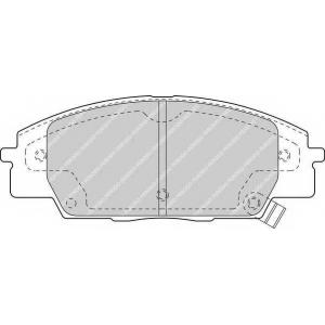 Комплект тормозных колодок, дисковый тормоз fdb1444 ferodo - HONDA S2000 (AP) кабрио 2.0