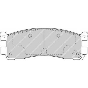 FERODO FDB1446 Комплект тормозных колодок, дисковый тормоз Мазда 929
