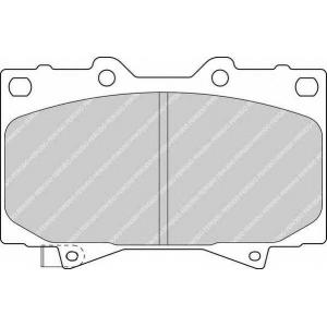 fdb1456 ferodo Комплект тормозных колодок, дисковый тормоз TOYOTA LAND CRUISER PRADO вездеход закрытый 4.0 V6 VVT-i