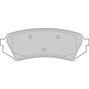 Комплект тормозных колодок, дисковый тормоз fdb1457 ferodo - LEXUS LX (UZJ100) вездеход закрытый 470 4x4