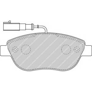 Комплект тормозных колодок, дисковый тормоз fdb1467 ferodo - FIAT DOBLO Cargo (263) фургон/универсал 1.6 D Multijet