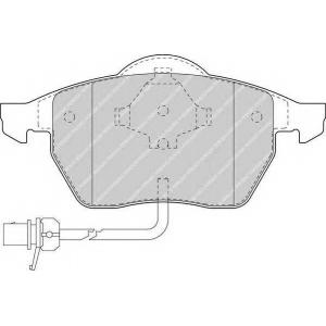 FERODO FDB1496 Колодки тормозные дисковые, к-кт.