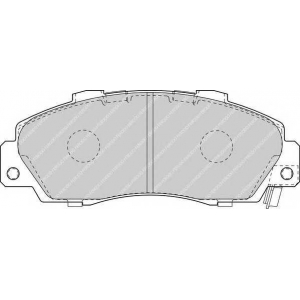 FERODO FDB1505 Комплект тормозных колодок, дисковый тормоз Акура Нсх