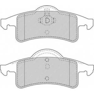 Комплект тормозных колодок, дисковый тормоз fdb1524 ferodo - JEEP GRAND CHEROKEE II (WJ, WG) вездеход закрытый 4.0 4x4