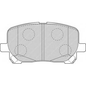 FERODO FDB1529 Колодки тормозные дисковые, к-кт.