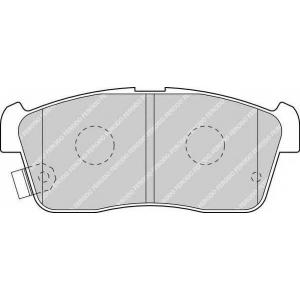 FERODO FDB1532 Комплект тормозных колодок, дисковый тормоз Дайхатсу
