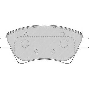 FERODO FDB1544 Гальмівні колодки, дискові