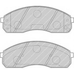 FERODO FDB1595 Комплект тормозных колодок, дисковый тормоз Киа Преджио