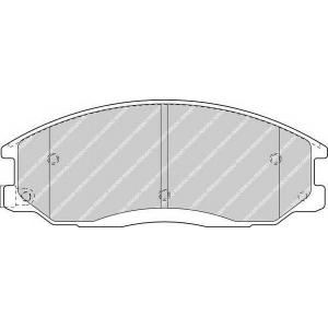 FERODO FDB1605 Комплект тормозных колодок, дисковый тормоз Хюндай Н100