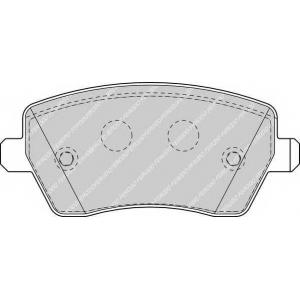 Комплект тормозных колодок, дисковый тормоз fdb1617 ferodo - DACIA LOGAN пикап (US_) пикап 1.4