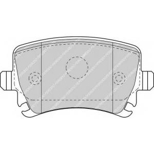 Комплект тормозных колодок, дисковый тормоз fdb1636 ferodo - VW PASSAT (362) седан 1.4 TSI
