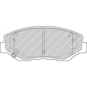 FERODO FDB1658 Колодки гальмівні дискові