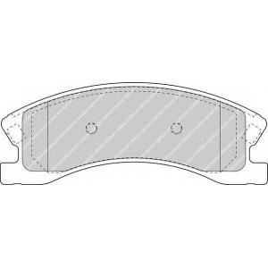 fdb1659 ferodo Комплект тормозных колодок, дисковый тормоз JEEP GRAND CHEROKEE вездеход закрытый 4.0 4x4