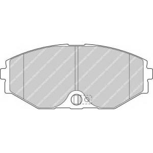 FERODO FDB1682 Комплект тормозных колодок, дисковый тормоз Инфинити Джей 30
