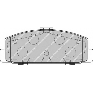 Комплект тормозных колодок, дисковый тормоз fdb1721 ferodo - MAZDA 6 Наклонная задняя часть (GH) Наклонная задняя часть 2.2 MZR-CD