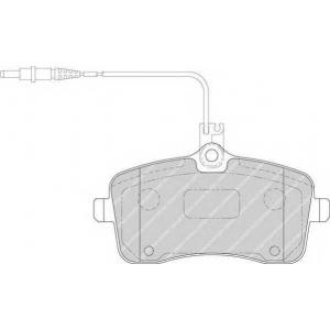 Комплект тормозных колодок, дисковый тормоз fdb1725 ferodo - PEUGEOT 407 (6D_) седан 2.0 Bioflex