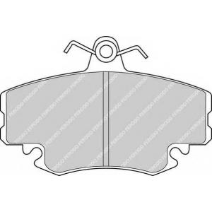 FERODO FDB1781 Колодки гальмівні дискові