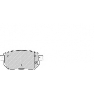 Комплект тормозных колодок, дисковый тормоз fdb1786 ferodo - NISSAN MAXIMA Station Wagon универсал 2.0 QX