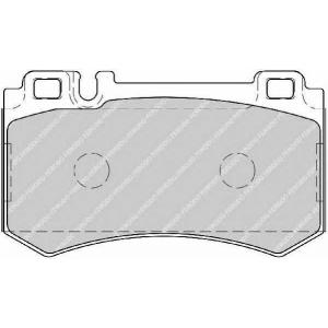 FERODO FDB1809 Комплект тормозных колодок, дисковый тормоз Мерседес Слр