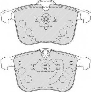 FERODO FDB1833 Колодки гальмівні дискові