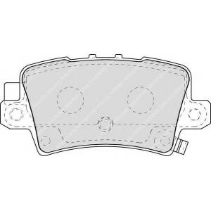 FERODO FDB1862 Гальмівні колодки, дискові