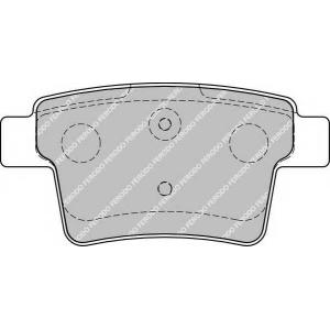 Комплект тормозных колодок, дисковый тормоз fdb1885 ferodo - FORD MONDEO III универсал (BWY) универсал 2.2 TDCi