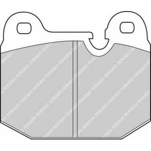 FERODO FDB192 Комплект тормозных колодок, дисковый тормоз Опель Кадет
