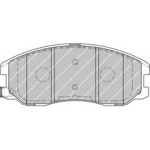FERODO FDB1934 Колодки тормозные дисковые, к-кт.